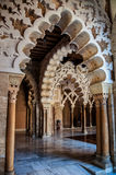 Interior of Aljaferia Palace in Saragossa, Spain Stock Photography