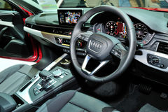 Interior of the all-new Audi A4 display during the Singapore Motorshow 2016 Royalty Free Stock Photography