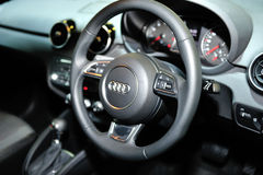 Interior of the all-new Audi A4 display during the Singapore Motorshow 2016 Stock Images