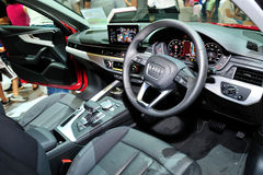 Interior of the all-new Audi A4 display during the Singapore Motorshow 2016 Stock Photos