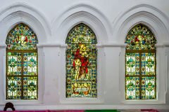 The interior of the All Saint Church in Galle Fort royalty free stock photo