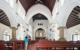 Interior of All Saints Anglican Church in Galle Sri Lanka Royalty Free Stock Images