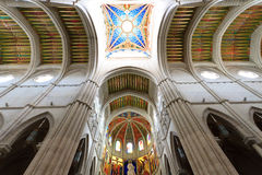 Interior of Almudena cathedral, Madrid, Spain Royalty Free Stock Photography