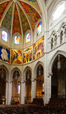 Interior of  Almudena Cathedral Royalty Free Stock Image