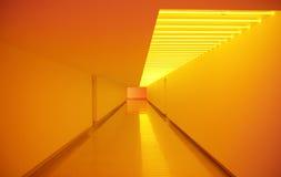 Interior amarillo del paso Imágenes de archivo libres de regalías