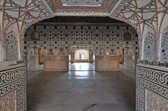 Interior of Amber Fort Royalty Free Stock Image