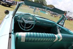 Interior americano convertível luxuoso clássico do carro Imagem de Stock Royalty Free