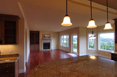 Interior americano de lujo de la casa Imagen de archivo libre de regalías