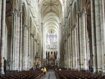 Interior of Amiens Cathedral, France Stock Photos