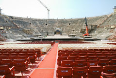 Interior of amphitheater of Verona Opera Arena Royalty Free Stock Photo
