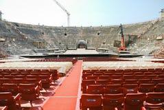 Interior of amphitheater of Verona Opera Arena Royalty Free Stock Photo