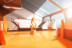 Interior anaranjado Imágenes de archivo libres de regalías