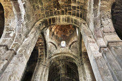 Interior of ancient armenian church. In Odzun monastery Royalty Free Stock Photos