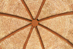 Interior of an ancient  brick dome Stock Photos