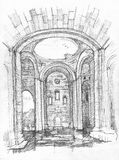 Interior of an ancient Cathedral of Ani Stock Image