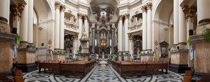 Interior of ancient church Stock Photography