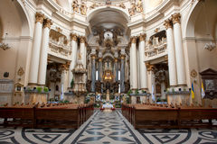 Interior of ancient church Royalty Free Stock Photography