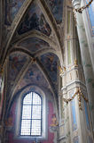 Interior of ancient church Stock Images