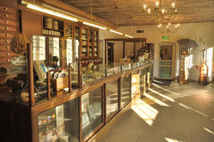 Interior of an ancient drugstore Stock Image