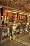 Interior of an ancient drugstore Stock Images