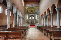 Interior of ancient Euphrasian Basilica in Porec
