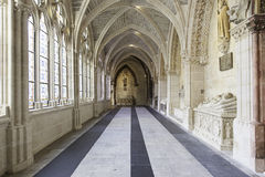 Interior of ancient gothic cathedral Royalty Free Stock Photos
