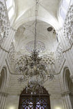 Interior of ancient gothic cathedral Royalty Free Stock Images