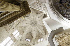 Interior of ancient gothic cathedral Royalty Free Stock Photography