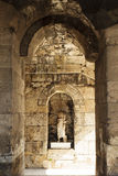 Interior of the ancient Greek theater Odeon of Herodes Atticus in Athens, Greece Stock Images