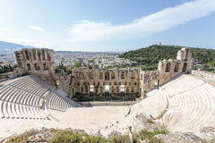 Interior of the ancient Greek theater Odeon of Herodes Atticus in Athens, Greece Stock Photos