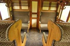 Interior of ancient steam train Stock Photos