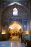 Interior of ancient Tillya Kary Madrassah in Samarkand Stock Photography