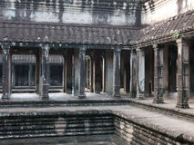 Interior of Angkor Wat, Cambodia Royalty Free Stock Photos