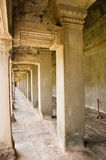 Interior, Angkor Wat Temple Royalty Free Stock Photo