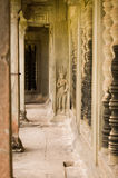 Interior, Angkor Wat temple, Cambodia Royalty Free Stock Photos