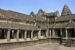 Interior of Angkor Wat temple, Siem Reap, Cambodia Royalty Free Stock Image
