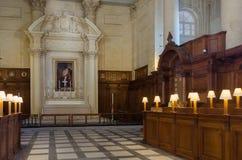 Interior anglicano de la catedral de StPaul Imagenes de archivo