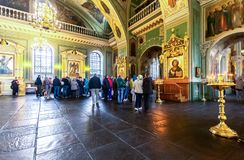 Interior of the Annunciation Cathedral of the Kazan Kremlin stock photos