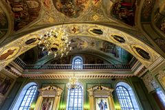 Interior of the Annunciation Cathedral of the Kazan Kremlin royalty free stock image