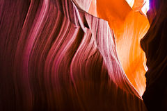Interior of Antelope Slot Canyon, near Page Arizona Royalty Free Stock Photography
