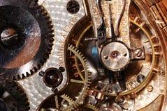 Interior antigo do relógio de bolso Imagens de Stock