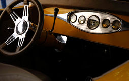 Interior of antique car Royalty Free Stock Images