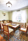 Interior with antique furniture stock image