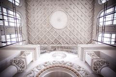 Interior antique roof in Moscow building Stock Photo