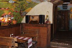 Interior antique. Antique interior in the Ukrainian style restaurant Stock Image