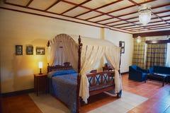 Interior of Anton Chekhov`s memorial room Suite 304 in Grand Oriental Hotel in Colombo, Sri Lanka. Stock Images