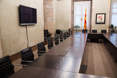 Interior of Antoni Tapies Hall  in palace Generalitat de Catalu Stock Photo