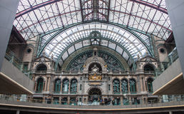Interior of Antwerp main railway station Stock Image