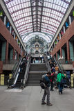 Interior of Antwerp main railway station Royalty Free Stock Image
