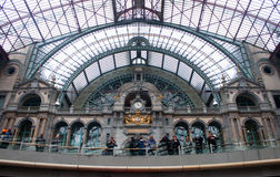 Interior of Antwerp main railway station Royalty Free Stock Photo